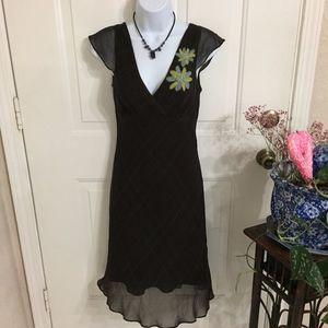 BCBGMaxAzria Brown Silk Dress (size 2) (B5)